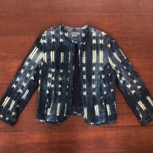 Anthropologie Indigo Blazer Size medium
